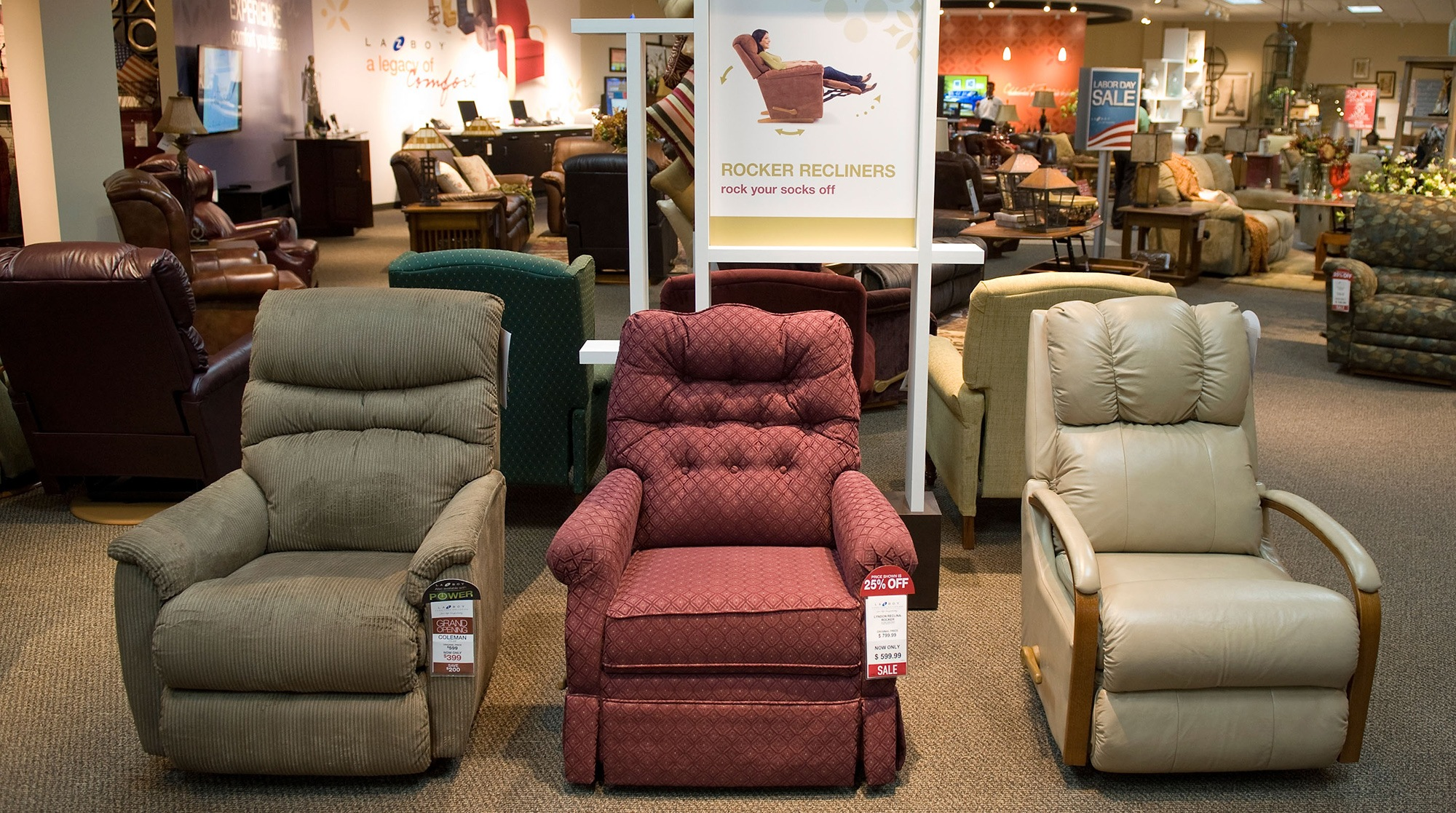 Recliners in Store