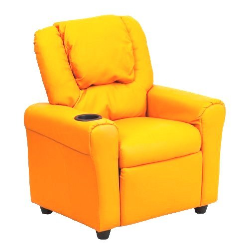 This Flash Furniture Orange Vinyl