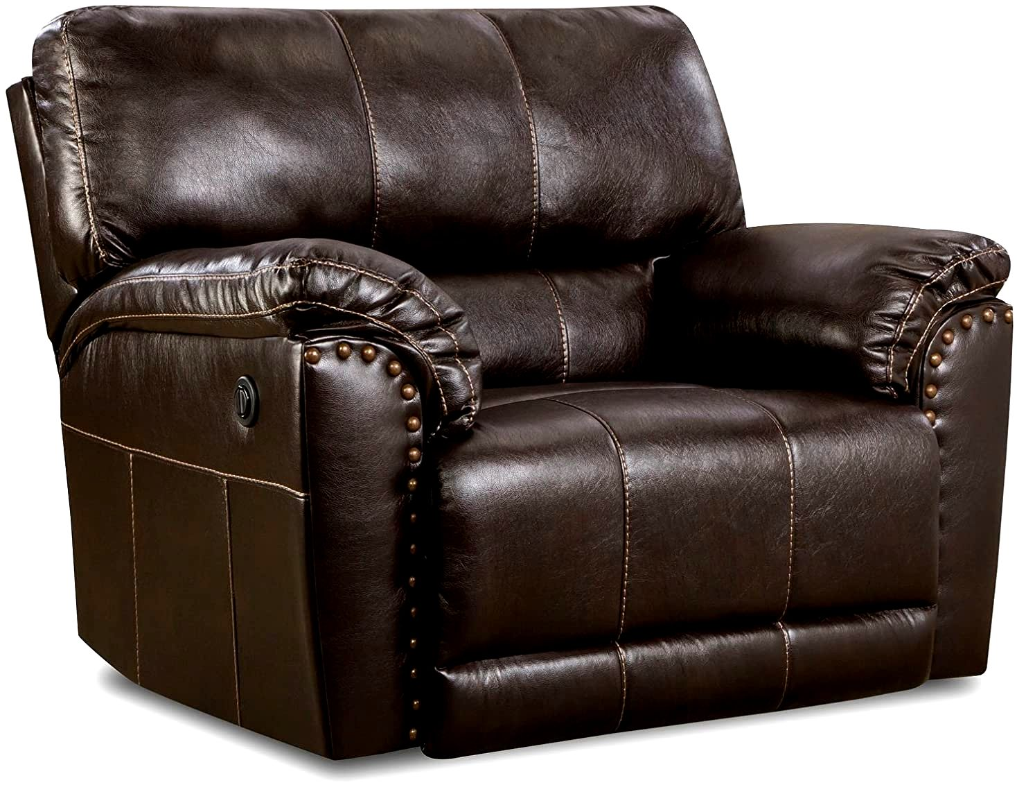Simmons Upholstery Abilene Chestnut Cuddler Recliner