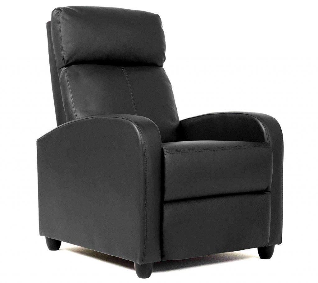 FDW Single Reclining Sofa Leather Chair