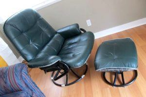 Reupholster A Leather Recliner With Ottoman